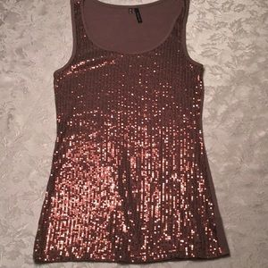 Maurices Sequin Top in Earth Tone Cocoa Brown